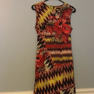 NWOT. French Connection bodycon geo-print dress.